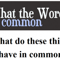 What's common?