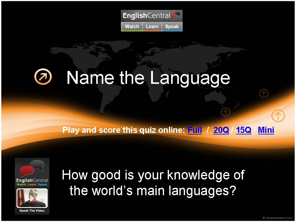 Name the Language