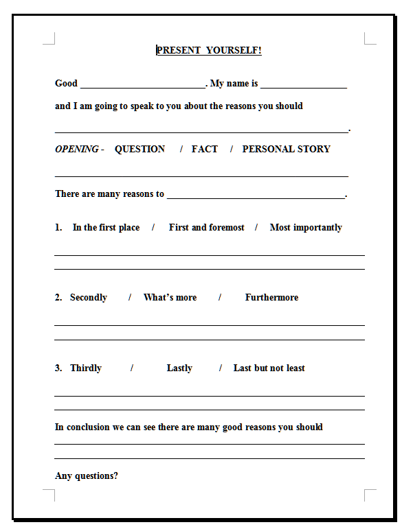 Printables Public Speaking Worksheets efl 2 0 resources product categories lessons speaking worksheets tagged with presentations presenting public worksheet