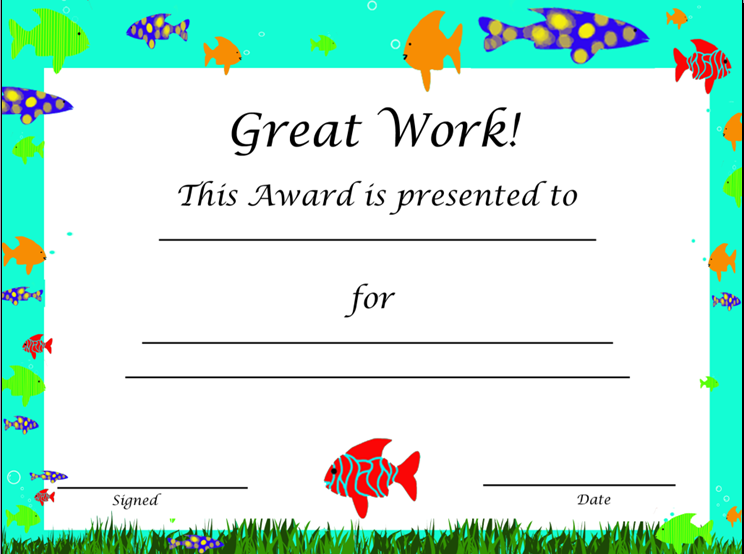 EFL 20 Resources – Kids Certificate Templates