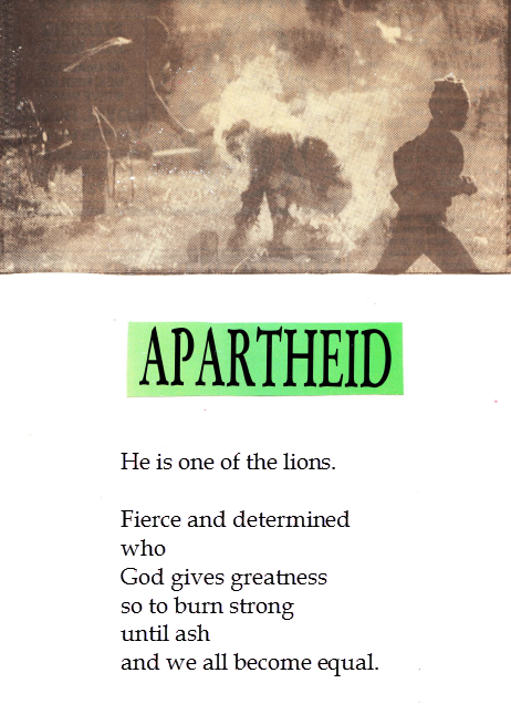 Love In Chinese Writing Apartheid — POEMS �...